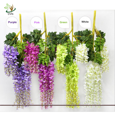 UVG Artificial Flower for Wall Decoration in White Wisteria wedding use china market