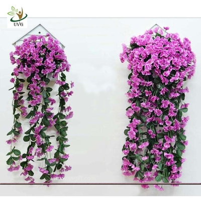 China UVG Christmas Garland Wreath Festive Decoration Artificial Wisteria Flower Vine factory