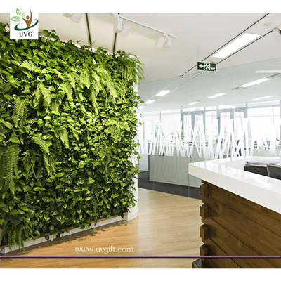 China UVG GRW029 Outdoor Artificial Landscape Plants Anti-UV Everygreen Grass Walls indoor use factory