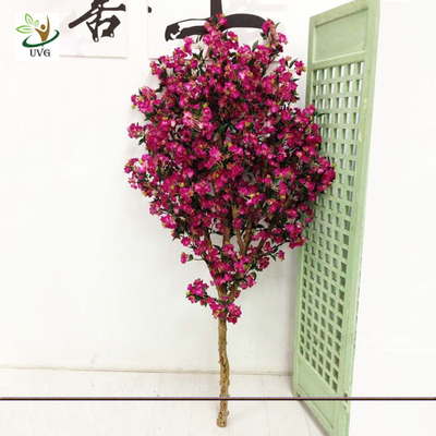 China UVG Festive Wreaths Latex Flower Arrangements Rose Color Artificial Cherry Tree Branches factory