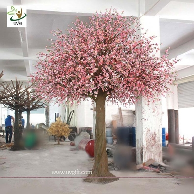 China UVG CHR058 Latest wedding decoration pink indoor artificial peach blossom tree 15ft high factory