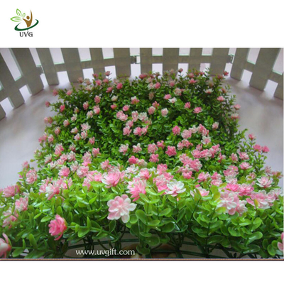 China UVG babysbreath eucalyptus turf and artificial colorful boxwood mat for garden decoration factory