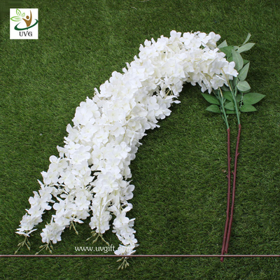 China UVG Wedding favor with white cheap silk artificial wisteria flower for party decoration factory