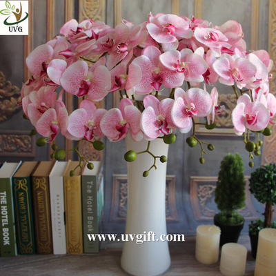 UVG Colorful artificial flower wholesale with plastic orchid for wedding table decoration