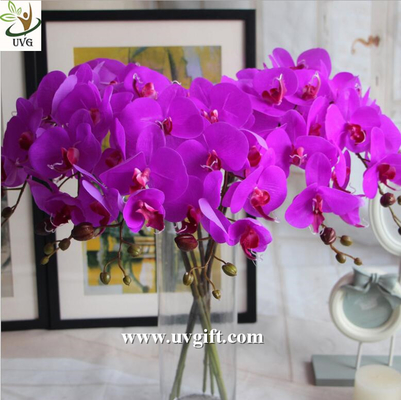 UVG Latex high quality artificial flowers orchid for wedding decoration table centerpiece