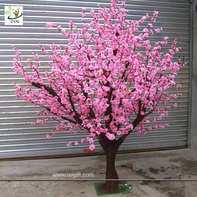 China UVG CHR036 pink silk trees with artificial peach blossom for indoor wedding decoration factory