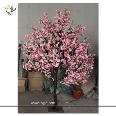 China UVG 8 foot artificial pink cherry blossom tree in wood trunk for birthday party decoration CHR074 factory