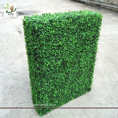 China UVG GRS03 indoor decorated plastic artificial boxwood hedge for party landscaping factory
