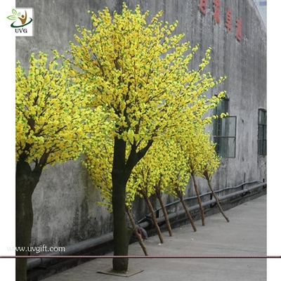China UVG CHR025 indoor garden decoration artificial blossom yellow cherry tree 10ft high factory