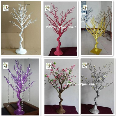 UVG DTR25 colorful plastic dry tree branch decoration wedding centerpieces for tables