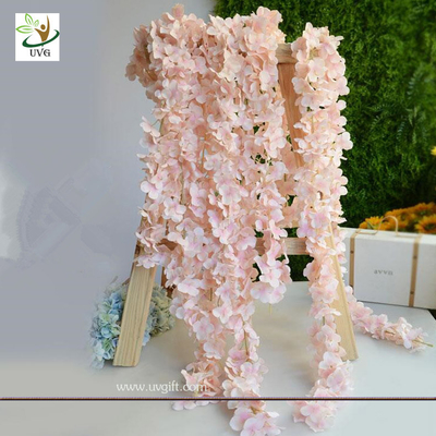 China UVG 2m long romantic classic silk flowers artificial wisteria garland for wedding decor factory