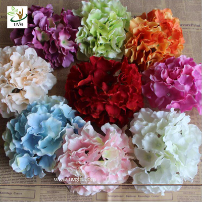 UVG FBL01 white artificial flower heads in silk hydrangeas for wedding backdrop decoration