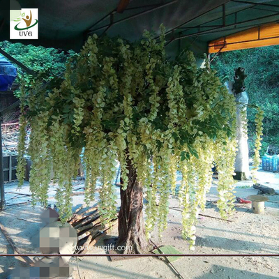 China UVG WIS010 7ft green fake wisteria blossom artificial trees for home garden decoration factory