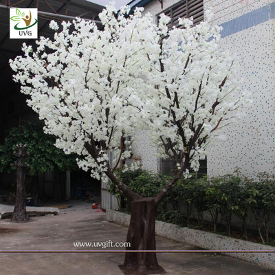 China UVG CHR137 cherry blossom tree price with white fake sakura branches for weddings and events factory