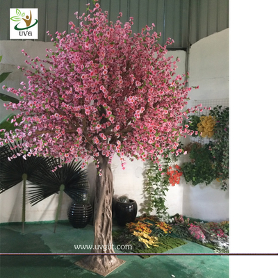 China UVG CHR150 Beach wedding use tall artificial trees in peach blossom branch and cherry flowers for uk theme decoration factory