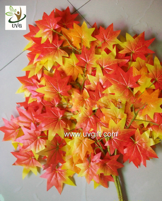 UVG garden ornament orange artificial maple leaves for holiday living outdoor decoration GRE054