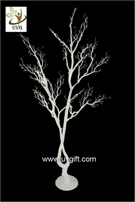 UVG white artificial twig tree with PE plastic branches for wedding decoration ideas DTR28