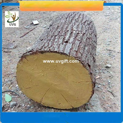 UVG unique decoration ideas artificial tree stump with fiberglass material for garden landscaping