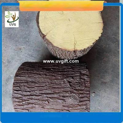 UVG realistic china fir stool model GRC fiberglass fake tree stump for park decoration CHR151
