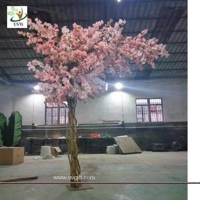 China UVG 11ft high pink color artificial cherry blossom trees for weddings CHR157 factory
