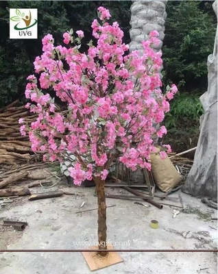 China UVG customized small artificial cherry blossom tree uk for wedding table decorations CHR159 factory