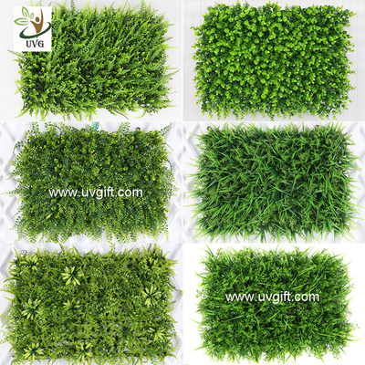 China UVG indoor and outdoor plastic boxwood mat artificial grass for walled garden decoration GRS12 factory
