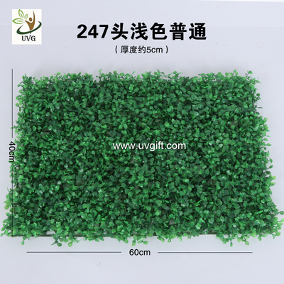 China UVG 60*40cm fake outdoor plants artificial boxwood mat for green wall decoration GRS10 factory