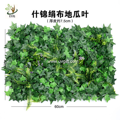 China UVG garden ornament various artificial plastic grass mat for wall decoration GRS22 factory
