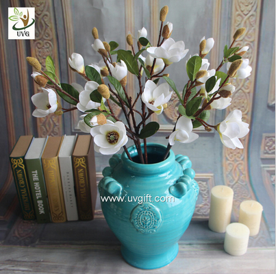 UVG wedding theme ideas fake flower arrangements artificial magnolia wholesale for party table decorations FMA54