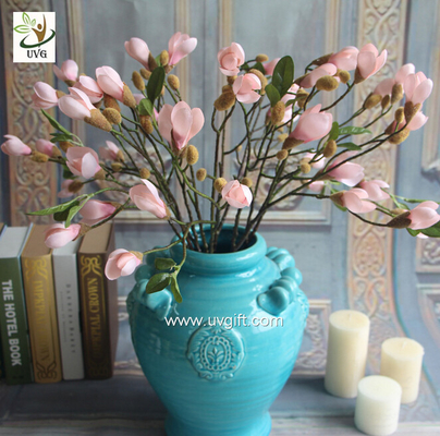 UVG artificial flower supplier silk flowers wholesale in white cheap magnolias for party table decorations FMA55