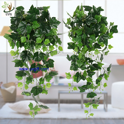 UVG interior decoration 1 meter green hanging faux ivy with plastic vine leaves for sale CHP01