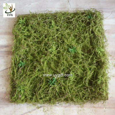 UVG 30cm micro soft artificial grass mat with nylon moss for beach wedding decor GRS042