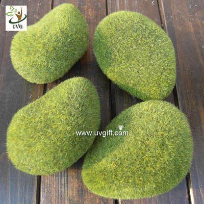 UVG preserved artificial moss stones décor rock for garden grass ornaments to planning a wedding GRS040