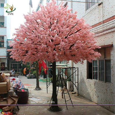 China UVG 17 foot large cheap artificial trees in silk cherry blossoms for wedding background decoration CHR161 factory
