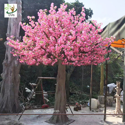 China UVG 3 meters tall artificial trees with pink cherry blossom flowers for garden wedding decoration CHR142 factory