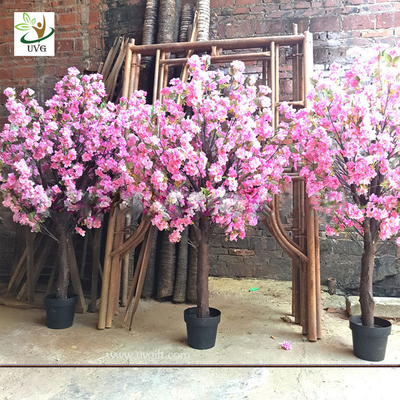 China UVG fake cherry blossom decorative artificial wooden tree for top table landscaping CHR164 factory