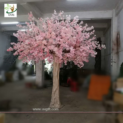 UVG 10 foot pink cherry blossom decorative artificial trees for church wedding decorations CHR170
