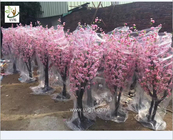 UVG 2m high outdoor pink cherry blossom tree fake with peach flower branches for wedding planner CHR152