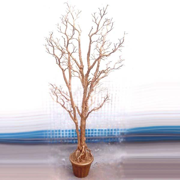 UVG DTR06 Decorative Hanging Tree Branch gold color for home decoration 5ft high