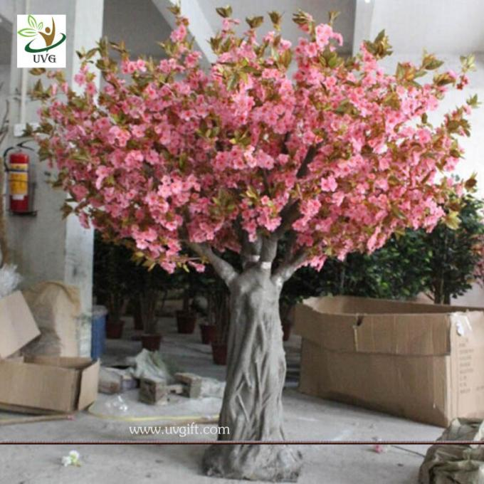 UVG CHR061 Fake Trees for Wedding pink cherry blossom 12ft high