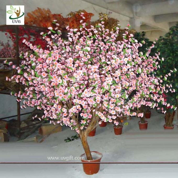 UVG CHR041 Pink Cherry Blossom Wooden Tree Decoration Table top trees