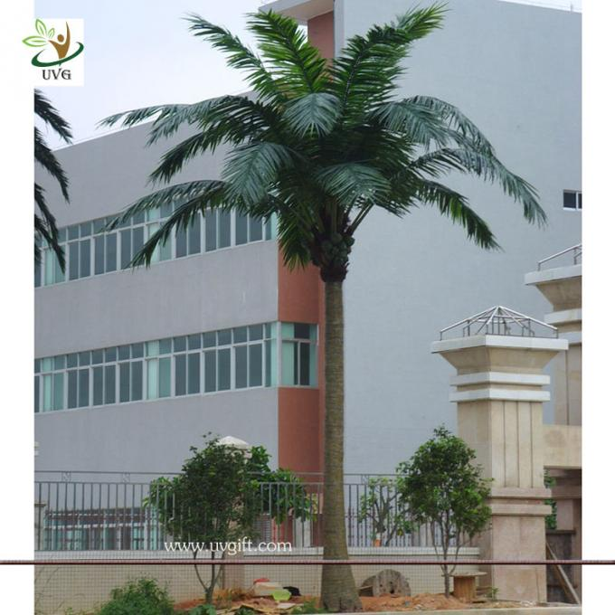 UVG PTR008 20ft tall Wholesale artificial coconut palm tree in fiberglass trunk for Garden