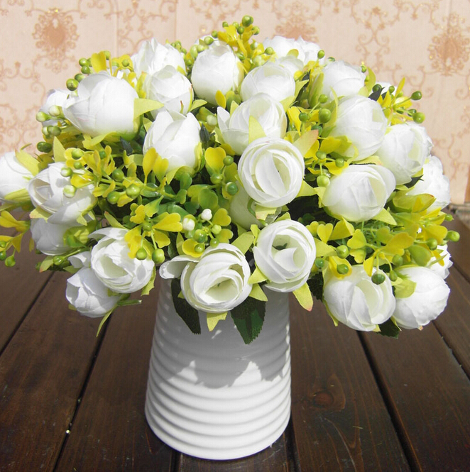UVG Cheap Wholesale Artificial Flowers Buy from Alibaba Fabric Indian Rose Flower