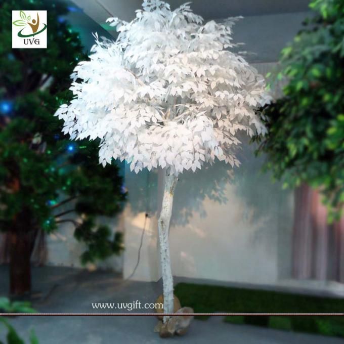 UVG GRE013 Trees for Wedding white color artificial winter trees indoor decoration