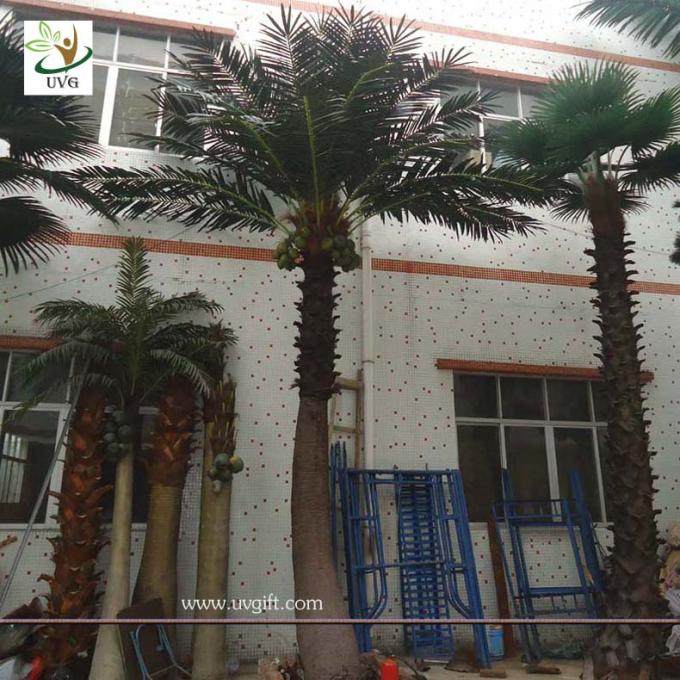 UVG PTR013 Big ornamental artificial coconut tree in silk leaves for outdoor decoration