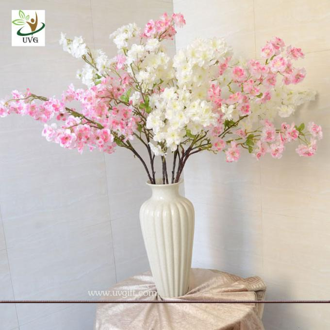 UVG Pink artificial tree branches and leaves in silk blossoms for wedding table decoration