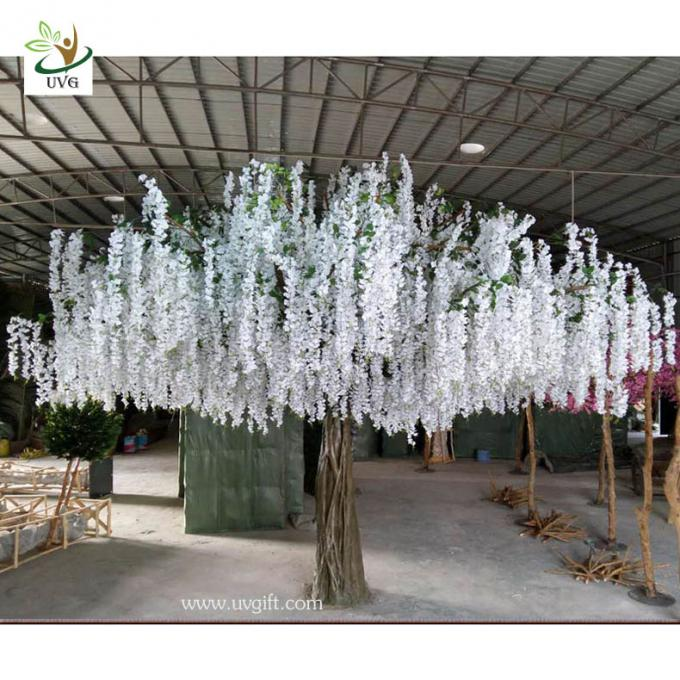 UVG 4m large artificial decorative tree with wisteria blossom for home garden decoration