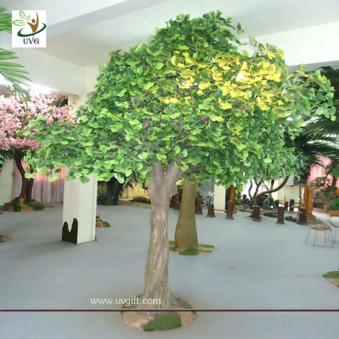UVG GRE026 12ft Indoor green banyan artificial decorative trees for office decoration