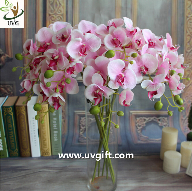 UVG Silk blossom wholesale artificial orchid flowers for wedding decoration centerpieces
