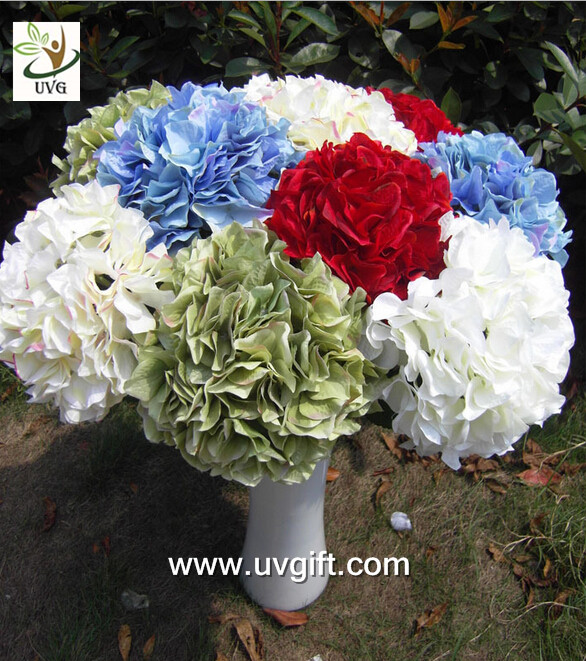 UVG FHY20 wedding accessory silk hydrangea flowers artificial for bridal bouquets use